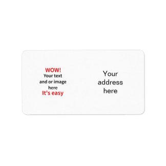 Kundengerechte Schablone machen Ihre Selbst Adressaufkleber