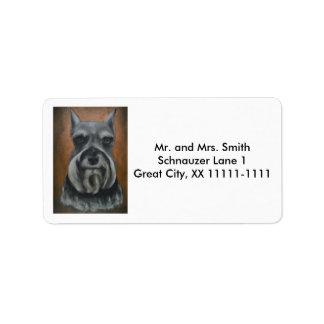 Kundengerechte Schnauzer-Adressen-Etiketten Nr. 4- Adress Aufkleber