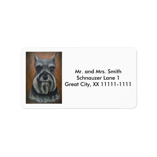 Kundengerechte Schnauzer-Adressen-Etiketten Nr. 4- Adressaufkleber
