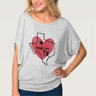 Kundengerechte Stadt, Texas-Staats-T - Shirt