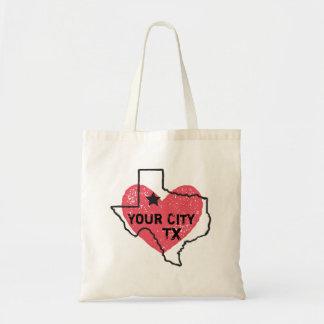 Kundengerechte Stadt-Texas-Taschen-Tasche Tragetasche