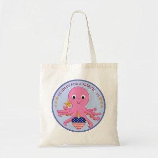 Kundengerechte Taschen-Taschen-Krake für einen Budget Stoffbeutel