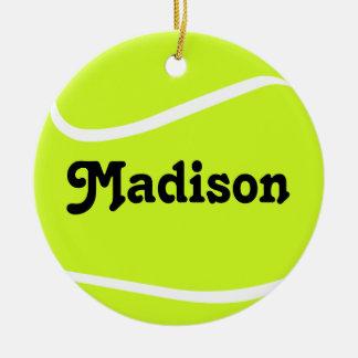 Kundengerechte Tennisball-Weihnachtsverzierung Keramik Ornament