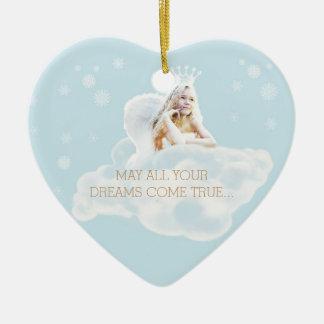 Kundengerechte Traumengels-Herz-Verzierung Keramik Ornament