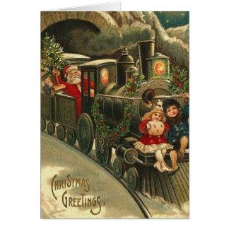 Kundengerechte Vintage Retro Weihnachtsgruß-Karte Karte