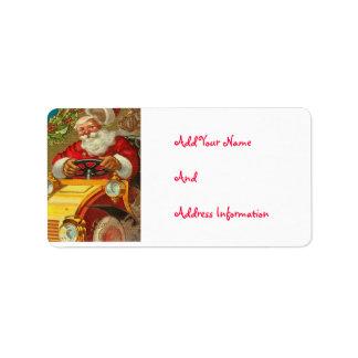 Kundengerechte Vintage Weihnachtsmann-Adressen-Eti Adressetikett