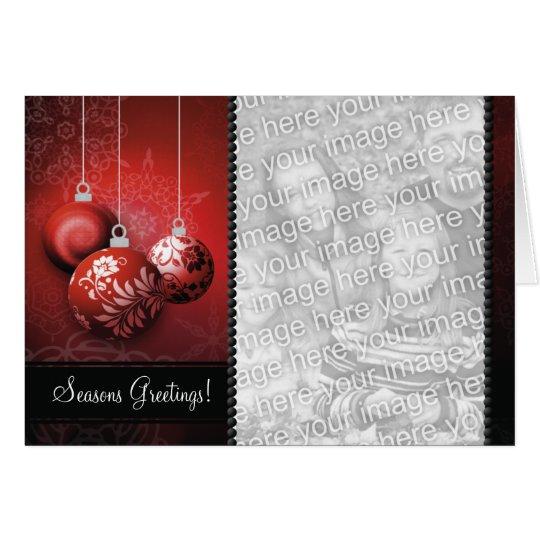 Kundengerechte Weihnachtskarten-Schablone - roter Karte