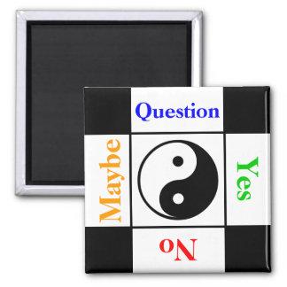 Kundengerechte Yin Yang Frage Quadratischer Magnet