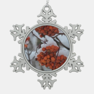 Customizable Pewter Snowflake Ornament
