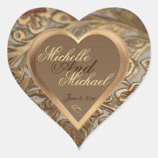 Kundengerechter Andenken-Hochzeits-Umschlag Herz-Aufkleber