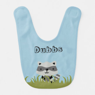 Kundengerechter Baby-Waschbär-Schellfisch Lätzchen
