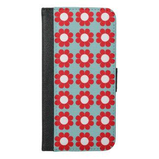 Kundengerechter Blumen-Power iPhone 6/6s Plus Geldbeutel Hülle
