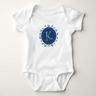 """Kundengerechter Buchstabe """"K """" Baby Strampler"""