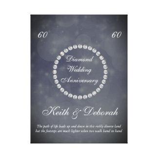 Kundengerechter Diamant-Hochzeitstag Gespannter Galerie Druck