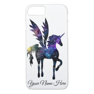 Kundengerechter Einhorn-Pegasus-Aquarell-Raum-Fall iPhone 8/7 Hülle
