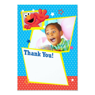 Kundengerechter extremer Elmo danken Ihnen 8,9 X 12,7 Cm Einladungskarte