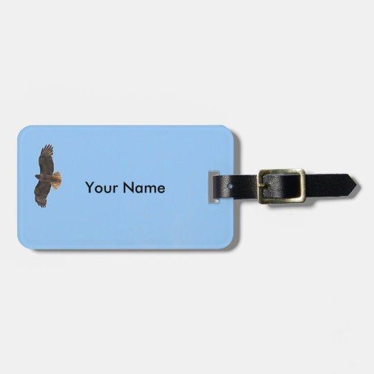 Kundengerechter Fliegen-Falke gegen blauen Himmel Kofferanhänger