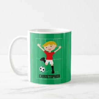 Kundengerechter Fußball-Junge 1 rot und weiß Tassen
