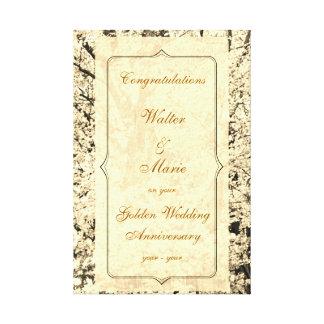 Kundengerechter goldener Hochzeitstag Gespannter Galeriedruck