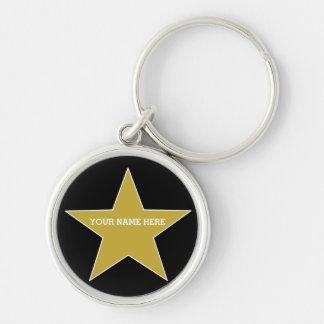 Kundengerechter Goldstern Schlüsselanhänger