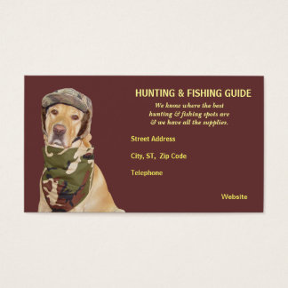 Kundengerechter Jagd-/Fischen-Führer Visitenkarte
