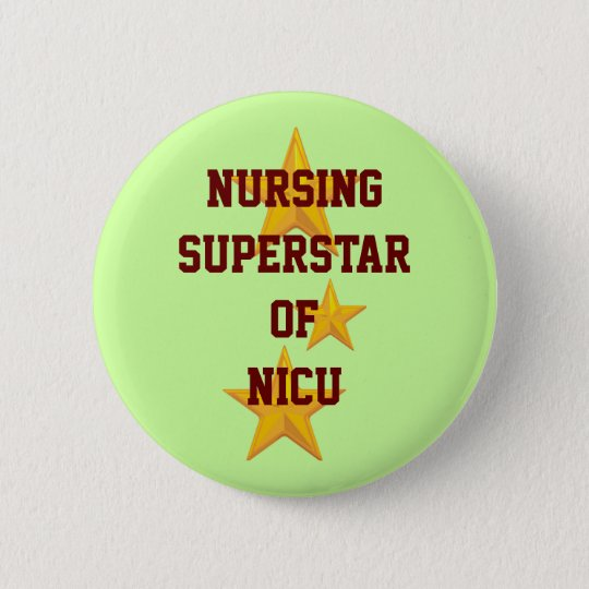 Kundengerechter Krankenpflege-Superstar-Knopf Runder Button 5,7 Cm