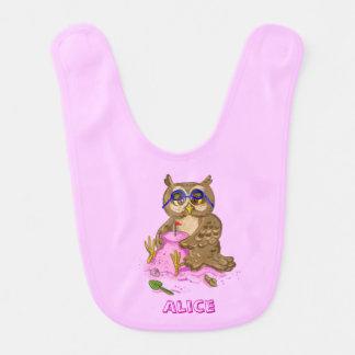 Kundengerechter Name des Eulenstrand-Feiertags Babylätzchen