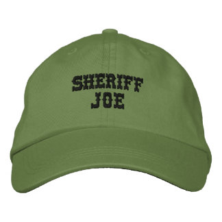 Kundengerechter personalisierter Name SHERIFF-JOES Bestickte Kappe