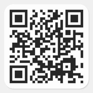 kundengerechter QR Code Quadratischer Aufkleber