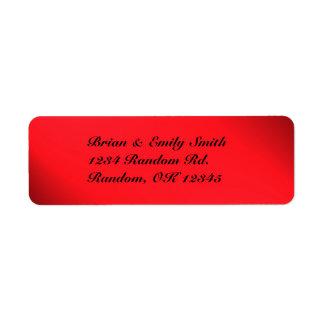 Kundengerechter roter schwarzer mutiger kleiner adressaufkleber