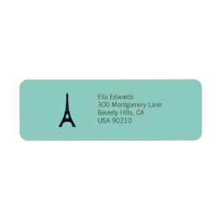 Kundengerechter Rücksendeadresse-Aufkleber Paris Rücksendeetiketten