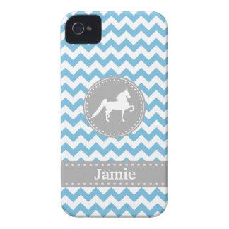 Kundengerechter Saddlebred blauer iPhone 4/4S iPhone 4 Case-Mate Hüllen