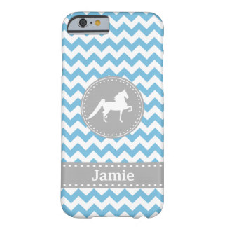 Kundengerechter Saddlebred blauer Zickzack iPhone Barely There iPhone 6 Hülle