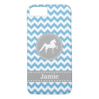 Kundengerechter Saddlebred blauer Zickzack iPhone iPhone 7 Hülle