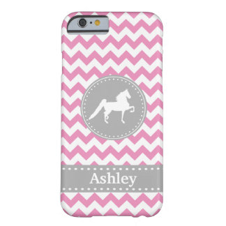 Kundengerechter Saddlebred rosa Zickzack iPhone 6 Barely There iPhone 6 Hülle