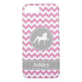 Kundengerechter Saddlebred rosa Zickzack iPhone 7 iPhone 7 Hülle