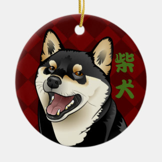 Kundengerechter Shiba Inu Hundejapanische Keramik Ornament