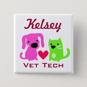 Kundengerechter Tierarzt Technologie Knopf Button