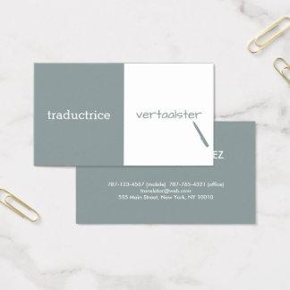 Kundengerechter Übersetzer Visitenkarte
