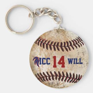 Kundengerechter Vintager Baseball-Schlüsselring Schlüsselanhänger