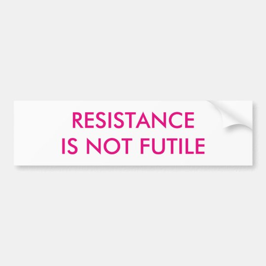 Kundengerechter Widerstand ist nicht vergeblich Autoaufkleber