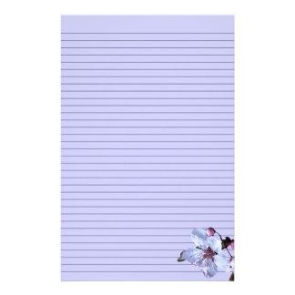 Kundengerechtes empfindliches Blumen-Briefpapier - Individuelle Büropapiere