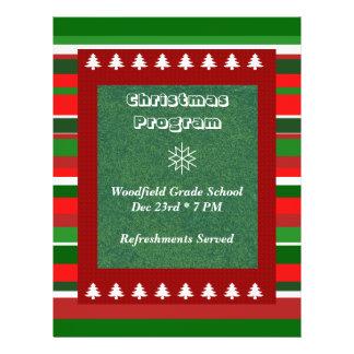 Kundengerechtes Ereignis: Weihnachtsprogramm 21,6 X 27,9 Cm Flyer