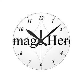 Kundengerechtes Foto, runde mittlere Wand-Uhr Wanduhren
