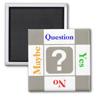 Kundengerechtes Fragezeichen Quadratischer Magnet