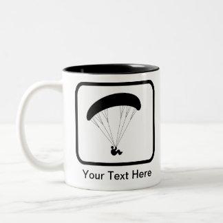 Kundengerechtes Gleitschirm-Logo Zweifarbige Tasse