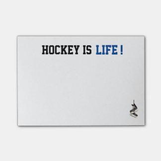 Kundengerechtes Hockey ist Leben-Posten, den es Post-it Haftnotiz