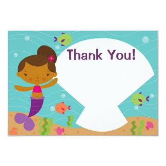Kundengerechtes Kindermeerjungfrau-Party danken Karte
