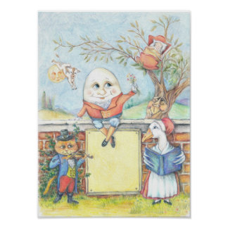 Kundengerechtes Kinderzimmer-Reimplakat Poster