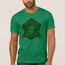 Kundengerechtes Kneipen-T-Stück sechseckiger T Shirt